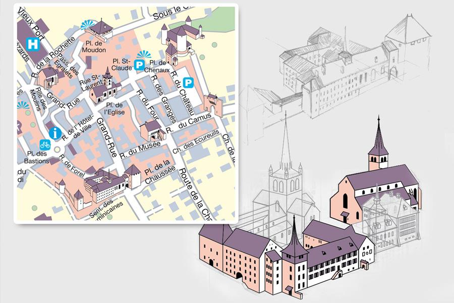 Circuits historiques à Estavayer et Payerne