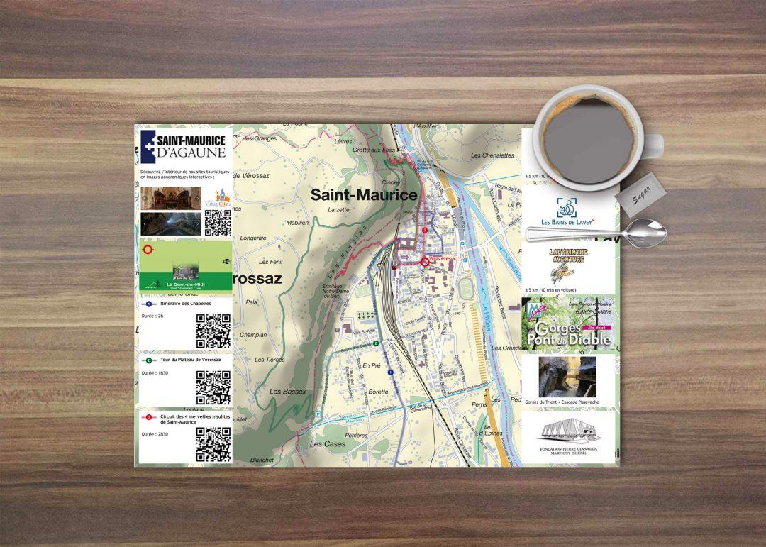 La carte qui bouge – sets de table localisés et interactifs